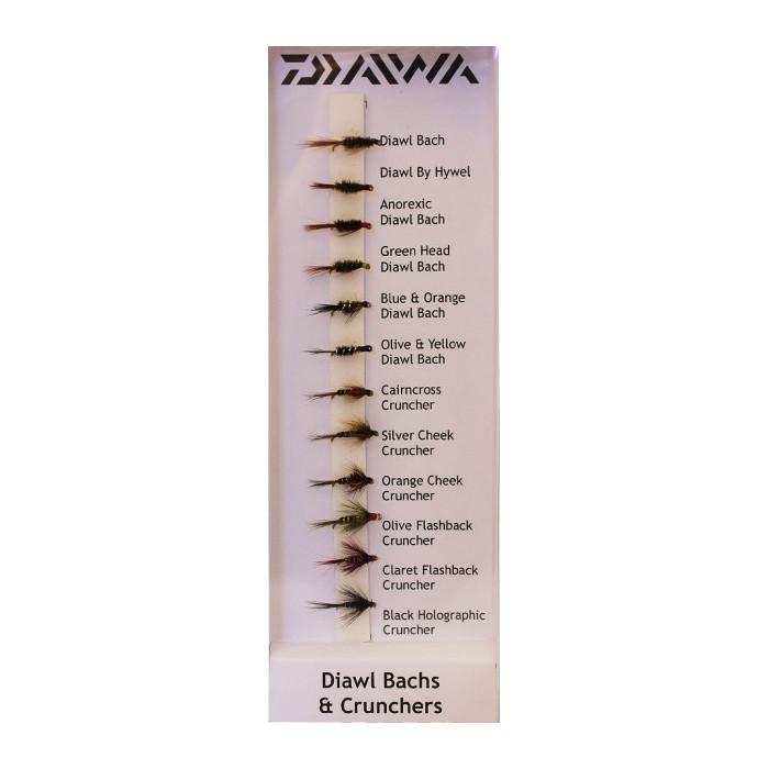 ZESTAW MUCH DAIWA DIAWLS & CRUNCHERS X12 FLIES DFC5 195625