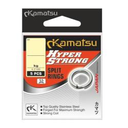 Kółka Łącznikowe Kamatsu HYPER STRONG SPLIT RING K-2199 4.5MM 21KG SREBRNE 580200045