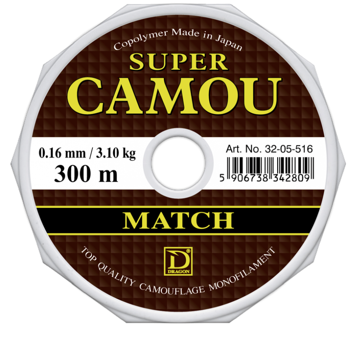 ŻYŁKA DRAGON SUPER CAMOU MATCH 0,14/150M