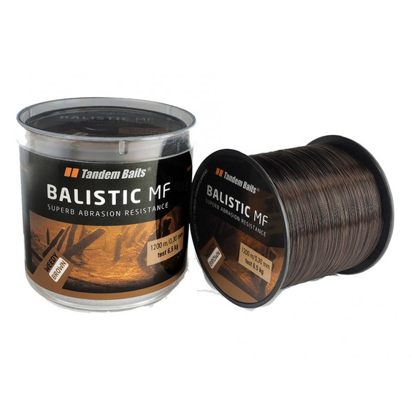 ŻYŁKA TANDEM BAITS BALISTIC MF WEEDY BROWN 0,30MM 600M
