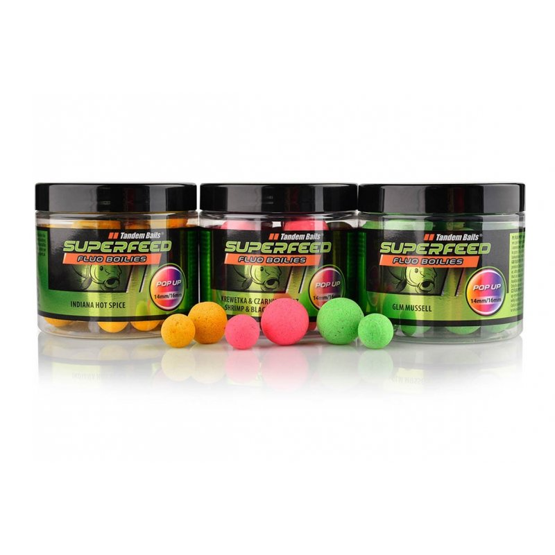 KULKI TANDEM BAITS SUPERFEED POP-UP FLUO 14/16MM 90G X-BERRY*
