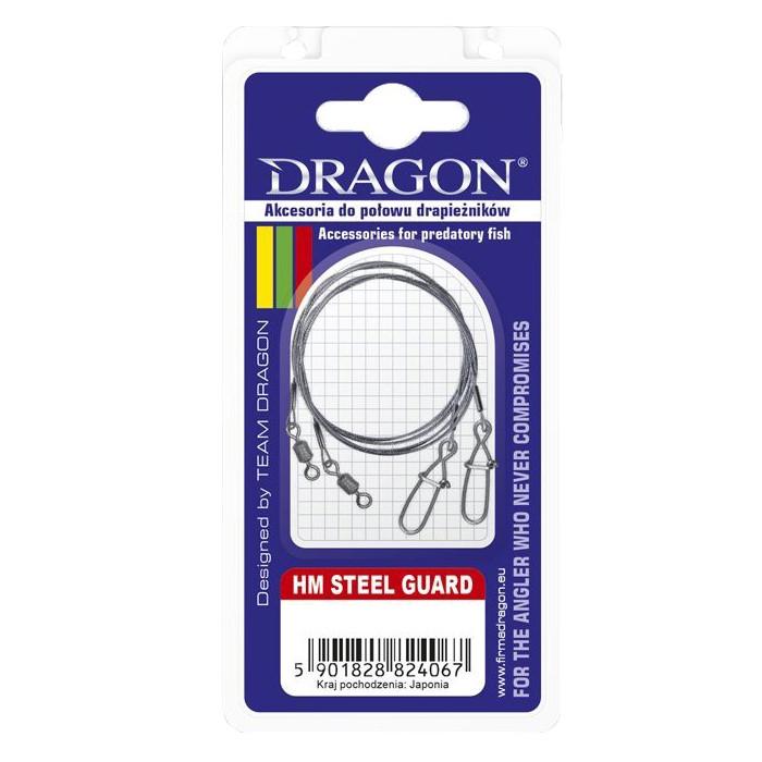 PRZYPON DRAGON HM 7X7 STEEL GUARD 20CM 6KG 2SZT