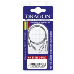 PRZYPON DRAGON HM 7X7 STEEL GUARD CARBON 15CM 10KG 57-110-15