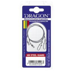 PRZYPON DRAGON HM 7X7 STEEL GUARD CARBON 15CM 10KG 57-110-15