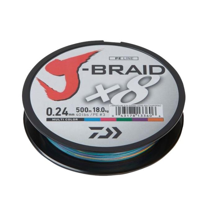 PLECIONKA DAIWA MULTI COLOR J-BRAID X8 0,28MM 300M