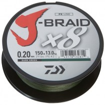 PLECIONKA DAIWA GREEN J-BRAID X8 0,22MM 300M