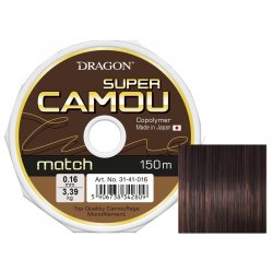 Żyłka DRAGON SUPER CAMOU Match 150 m 0.18 mm/4.01 kg camou/brązowo-czarna