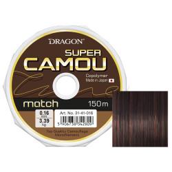ŻYŁKA DRAGON SUPER CAMOU MATCH 150 m 0,16 mm          camou/brązowo-czarna