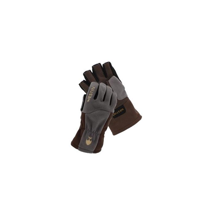 RĘKAWICZKI WĘDKARSKIE WESTIN W4 THERMOGRIP HALF-FINGER GLOVE XL STEEL GREY A13-399-XL